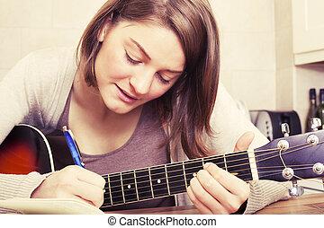 לכתוב, שיר