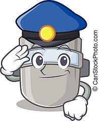 ללבוש, משטרה, הסתר, קצין, להלחים, ציור היתולי, ציור, כובע כחול