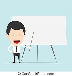 ללמד, ציור היתולי, איש של עסק