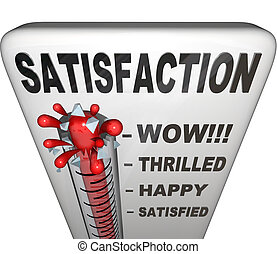 למדוד, השוה, סיפוק, השלמות, מדד חום, אושר