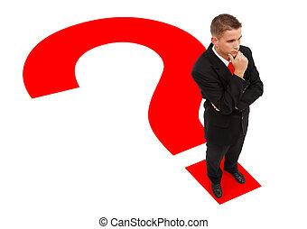 לעמוד, איש עסקים, סימן שאלה