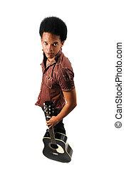 לעמוד, גיטרה, איש