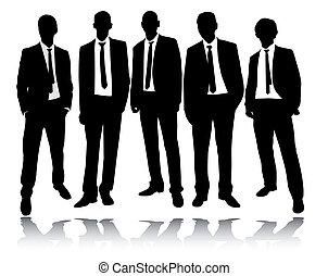 לעמוד, קבץ, אנשי עסקים