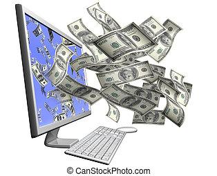 לעשות, מחשב, שלך, כסף