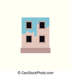 לצבוע, איקון, repair., דיר, כחול, לוגו