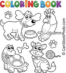 לצבוע ספר, חיות בית