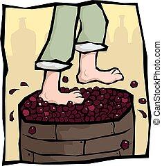 לצעוד, ענבים
