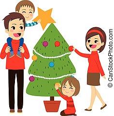 לקשט, עץ, חג המולד, משפחה