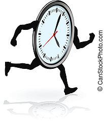 לרוץ, אופי, שעון