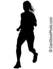 לרוץ, אישה, רקע לבן