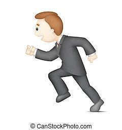לרוץ, איש של עסק