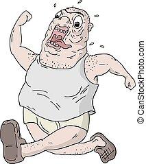 לרוץ, איש שמן