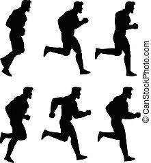 לרוץ, אנימציה, צללית, איש, ס.פ.