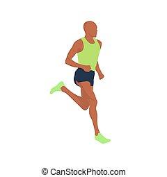 לרוץ, וקטור, איש, דוגמה