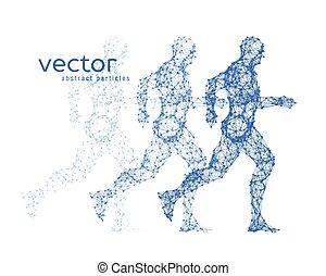לרוץ, וקטור, דוגמה, man.