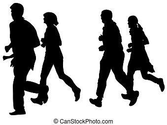 לרוץ, ישן, לבן, אנשים
