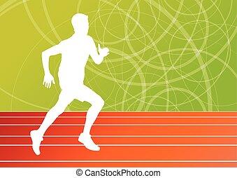 לרוץ, כושר גופני, לרוץ, איש