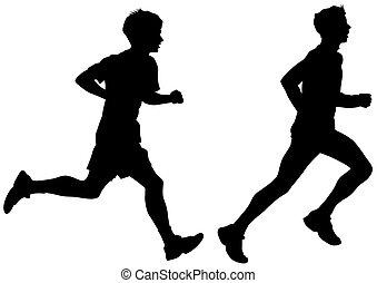 לרוץ, לבן, איש