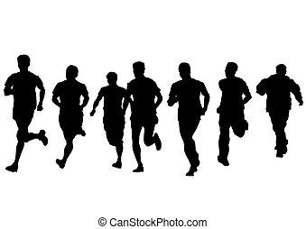 לרוץ, לבן, אנשים