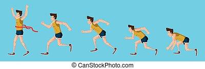 לרוץ, לבן, עלה, רקע, איש