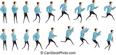 לרוץ, לקפוץ, אנימציה, איש