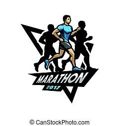 לרוץ, מרתון, logo., סמל