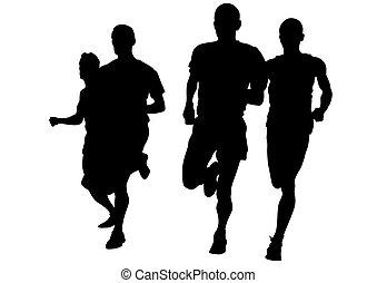 לרוץ, רקע לבן, איש