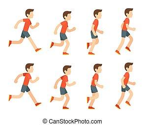 לרוץ, animation., איש