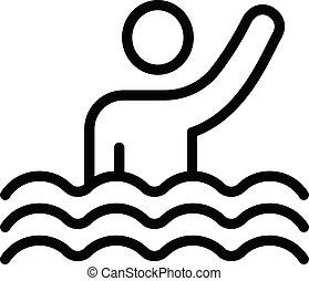 לשחות, איקון, סיגנון, תאר, ספורט, תזמן