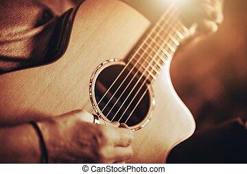לשחק גיטרה, אקוסטי