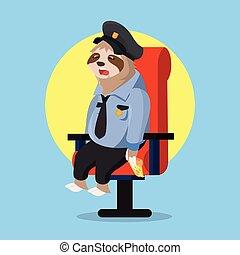 לשמור, לישון, כאשר, משטרה, עצלות