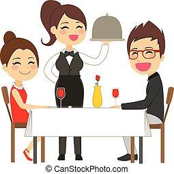 לשרת, מלצרית, מסעדה