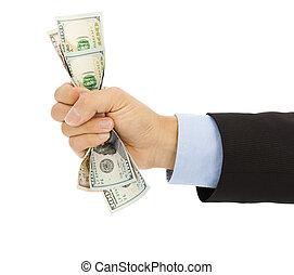 לתפוס, דולרים, מלוא יד, איש עסקים, העבר
