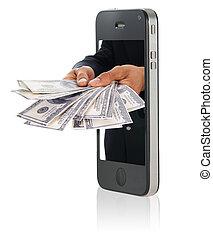 לתת כסף, מעל, חכם, טלפן