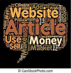 מאמרים, מושג, כסף, עשה, איך, wordcloud, רקע, טקסט, outsourced