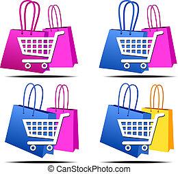 מבחר, קניות, איקונים של אינטרנט