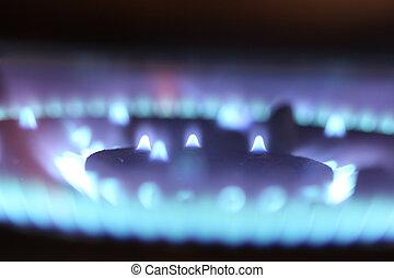 מבערים, גז, תנור, מטבח