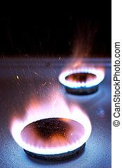 מבער, גז, תנור, מטבח