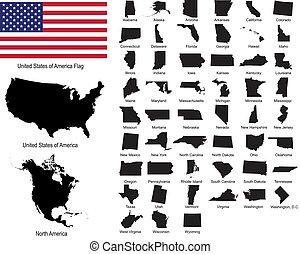 מדינות, vectors, ארהב