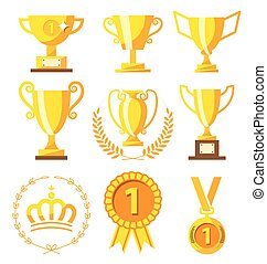 מדליון, דגול, חפון, מנצח, זהוב, הצלחה