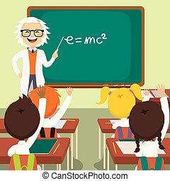 מדע, ישן, מורה