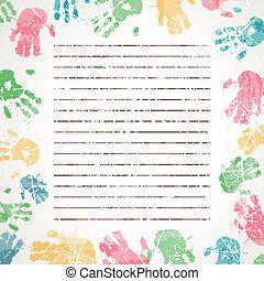 מדפיס, וקטור, רקע, צבעוני, העבר