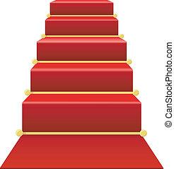מדרגות, שטיח אדום