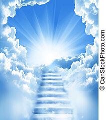 מדרגות, שמיים