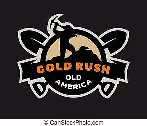 מהר, זהב, logo., סמל