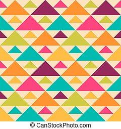 מואר, ראטרו, seamless, וקטור, pattern.