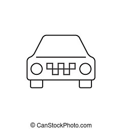 מונית, מכונית, תאר, איקון