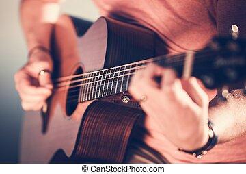 מוסיקאי, לשחק גיטרה