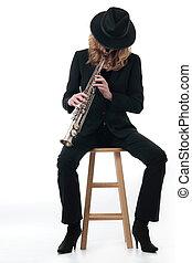 מוסיקאי של ג'ז, גברת