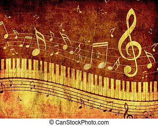 מוסיקה, גראנג, מקלדת של פסנתר, רואה